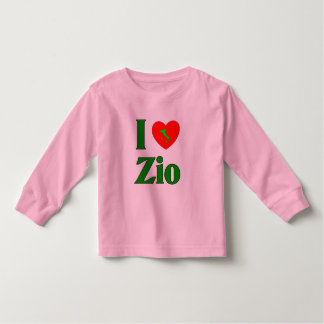 I Love Zio (Italian Uncle) Toddler T-shirt