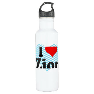 I Love Zion, United States 24oz Water Bottle