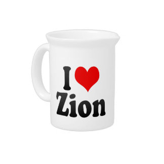 I Love Zion, United States Beverage Pitcher