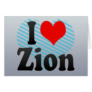 I Love Zion, United States Cards