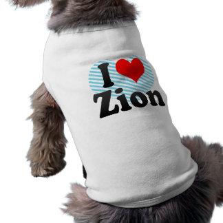 I Love Zion, United States Doggie Tshirt