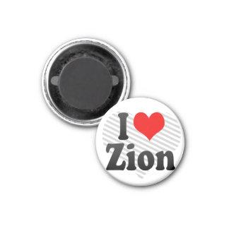 I Love Zion, United States Fridge Magnet