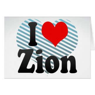 I Love Zion, United States Greeting Card