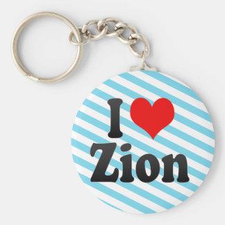 I Love Zion, United States Key Chain