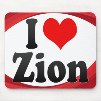 I Love Zion, United States Mouse Pad