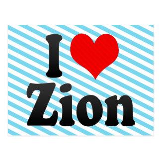 I Love Zion, United States Postcard