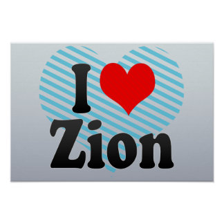 I Love Zion, United States Posters