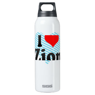 I Love Zion, United States 16 Oz Insulated SIGG Thermos Water Bottle