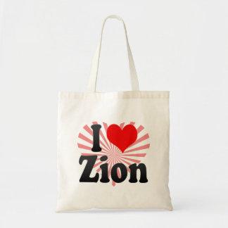 I Love Zion, United States Tote Bag