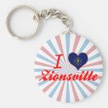 I Love Zionsville, Indiana Keychain