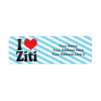 I Love Ziti Label