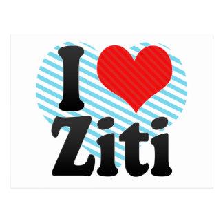 I Love Ziti Postcard