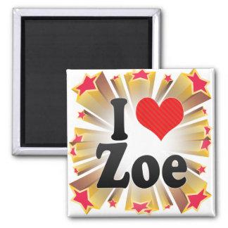 I Love Zoe Fridge Magnet