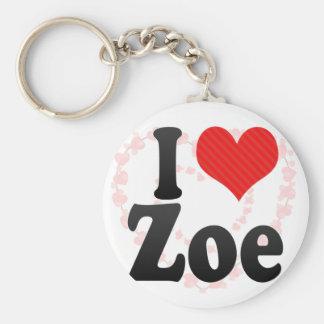 I Love Zoe Key Chains