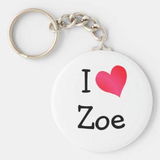 I Love Zoe Keychain