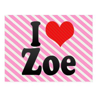 I Love Zoe Post Card