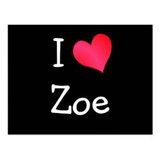 I Love Zoe Postcard