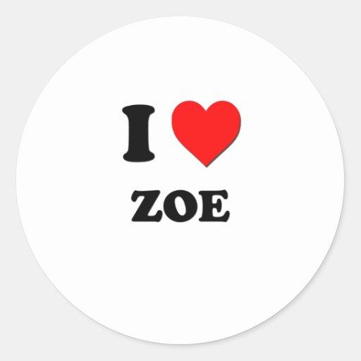 I Love Zoe Sticker
