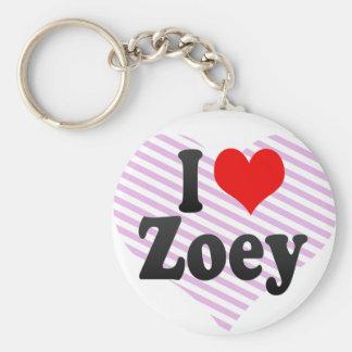 I love Zoey Keychain