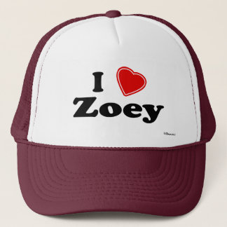 I Love Zoey Trucker Hat