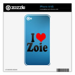 I love Zoie iPhone 4 Decal