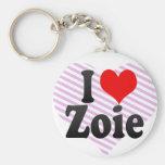 I love Zoie Key Chain