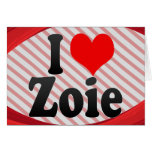 I love Zoie Stationery Note Card