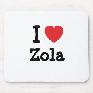 I love Zola heart T-Shirt Mouse Pads