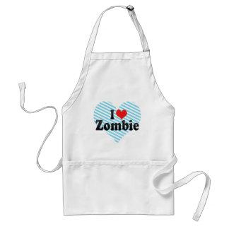I Love Zombie Adult Apron