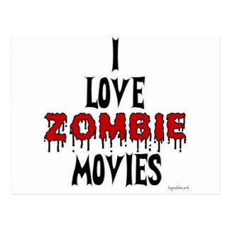 I love Zombie movies Postcard