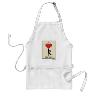 I Love Zombies Adult Apron