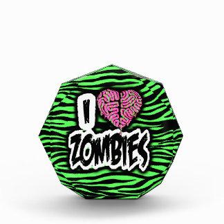 I Love Zombies Acrylic Award