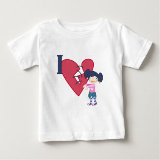 I Love Zombies Baby T-Shirt