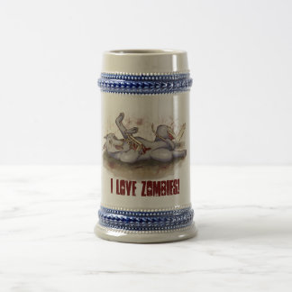 I Love Zombies! Beer Stein