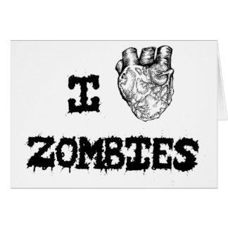 I love Zombies Card