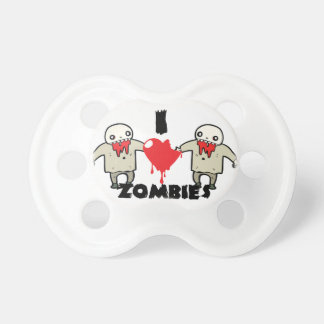 i love zombies character design with heart pacifier
