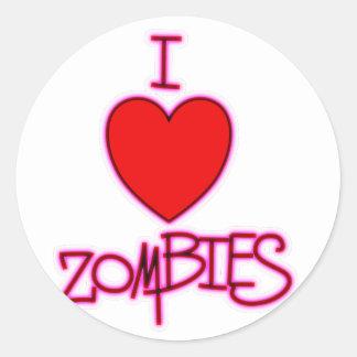 I Love Zombies! Classic Round Sticker