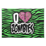 I Love Zombies Cloth Placemat