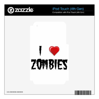 I Love Zombies Decal For iPod Touch 4G