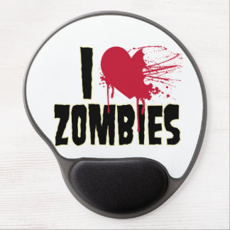 I love Zombies design Gel Mouse Pad