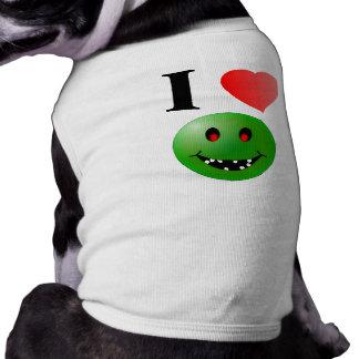 I Love Zombies Doggie Tank Tops Pet T-shirt
