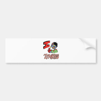 I LOVE ZOMBIES finished 3 Bumper Sticker