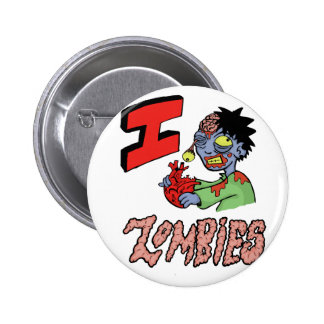 I LOVE ZOMBIES finished 3 Pinback Buttons