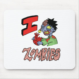 I LOVE ZOMBIES finished 3 Mouse Pad