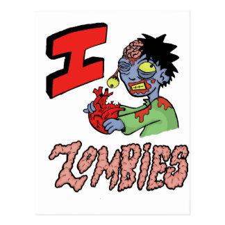 I LOVE ZOMBIES finished 3 Postcard