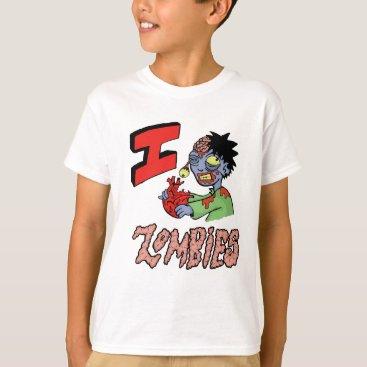NerdyWear I LOVE ZOMBIES finished 3 T-Shirt