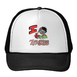 I LOVE ZOMBIES finished 3 Trucker Hat