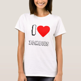 I Love Zombies Humor T-Shirt