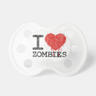 I Love Zombies -  Humorous Baby Pacifier