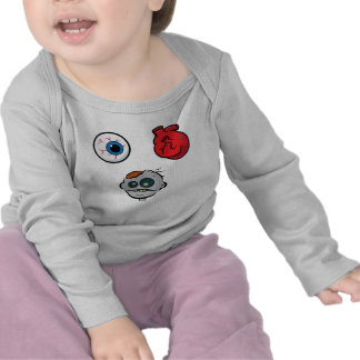 I Love Zombies Infant Long Sleeve Tee Shirts